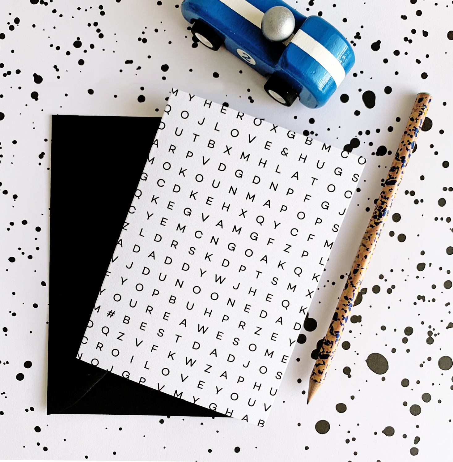 Hello Time Father's Day_Wordsearch_Card Flat Lay1