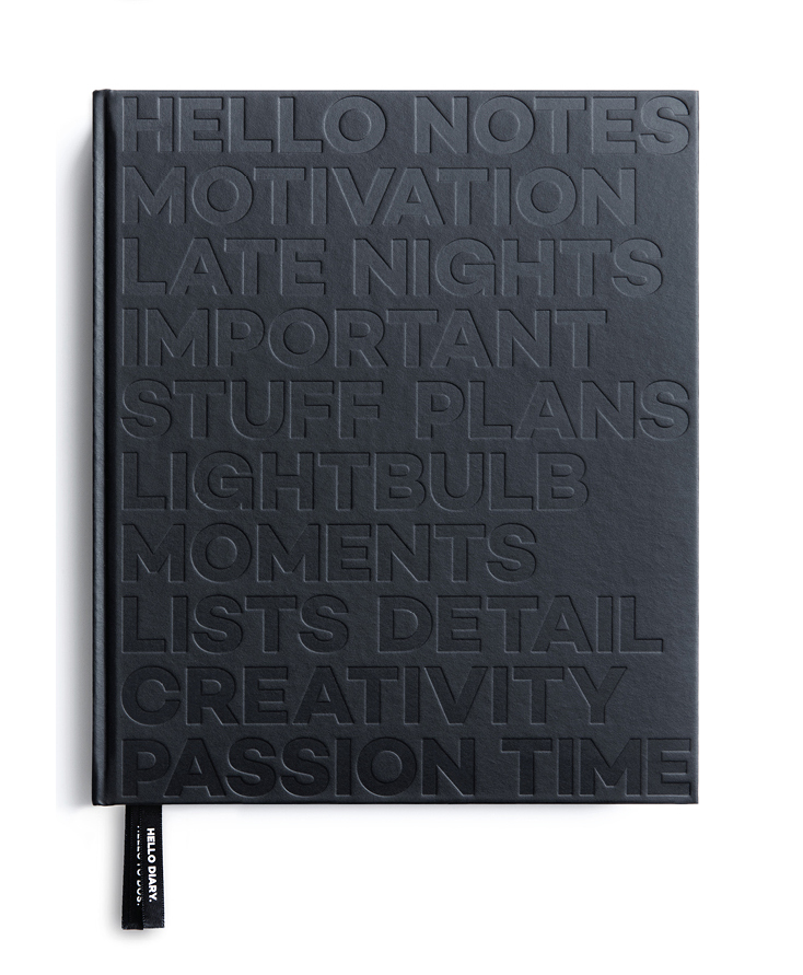 daily undated planner and notebook